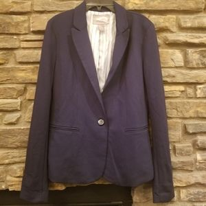 CLASSIC NAVY BLAZER JACKET JR L